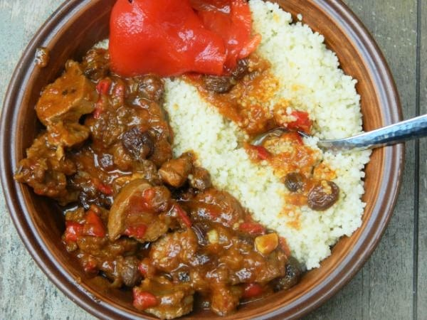 Best Lamb Stew Recipe-With Raisins and Couscous