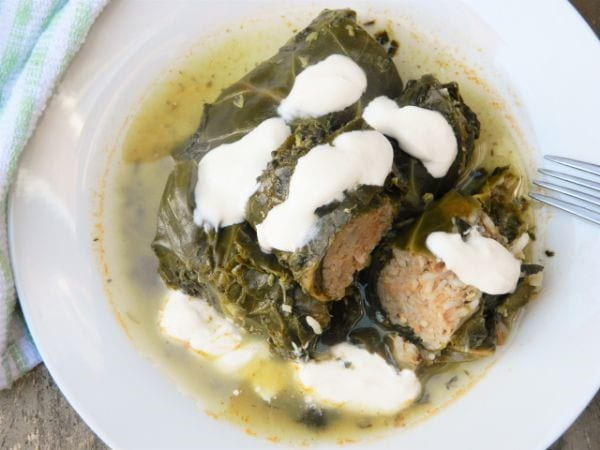 Stuffed Collard Greens Recipe-With Spinach and Sorrel