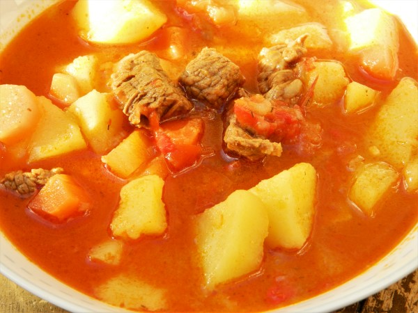 Traditional Hungarian Goulash Recipe-Served in Bowl