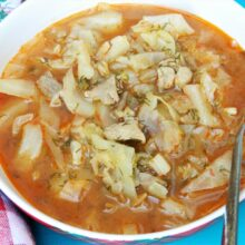 Best Cabbage Soup Recipe-Served in Soup Bowl