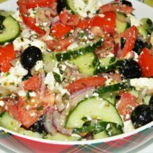 The Best Greek Salad Recipe-Served in a Bowl