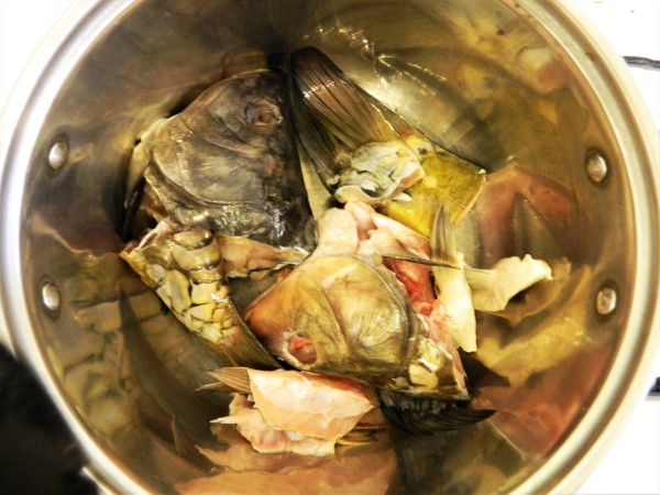 Best Fish Soup Recipe-Carp Fish Head and Tail in a Soup Pot