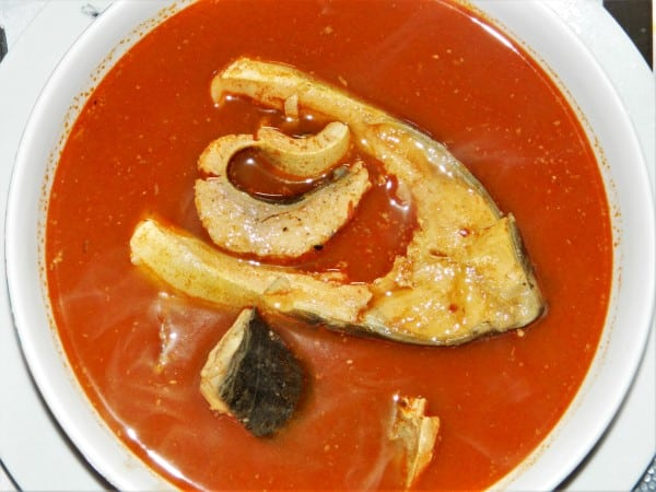 Best Fish Soup Recipe-Fisherman's Soup Served Hot in a Bowl