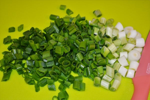 Easy Cold Pasta Salad Recipe-Chopped Spring Onions