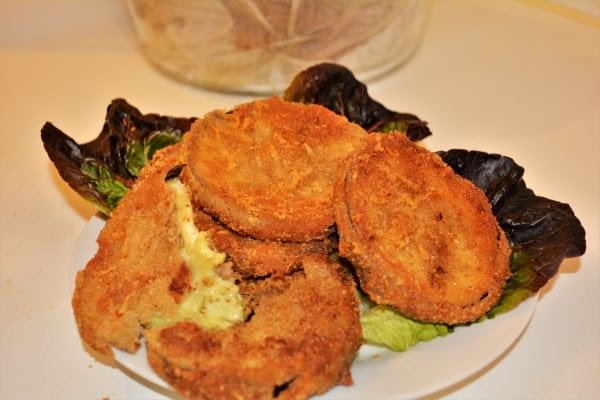 Best Breaded Eggplant Recipe-Served on the Plate