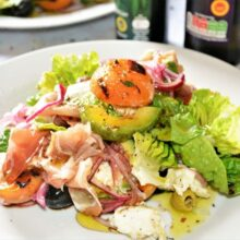 Grilled Apricot Salad Recipe-Served on the Plate