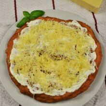 Homemade Fried Dough Recipe-Served With Sour Cream and Grated Cheese