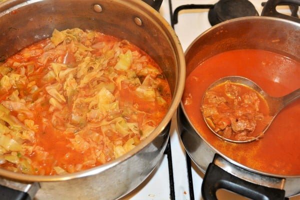 Beef and Cabbage Stew Recipe-Cabbage Stew and Beef Stew in Different Pots