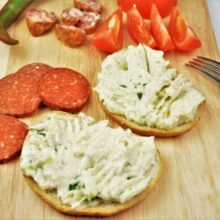 Best Creamed Cauliflower Recipe-Served on Bread With Salami, Smoked Sausage and Tomatoes