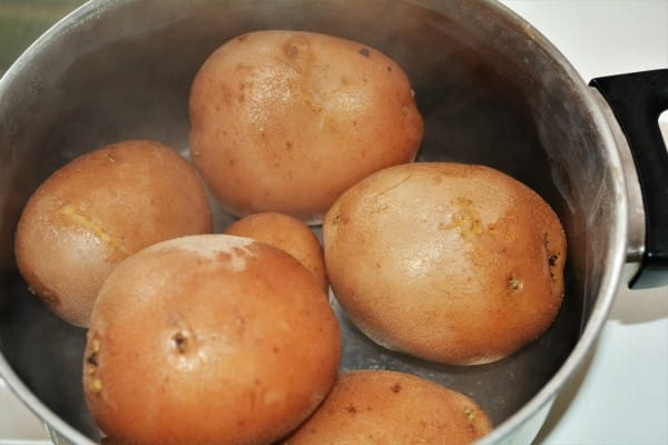 Best Simple Potato Salad Recipe-Boiled Cooling Red Potatoes