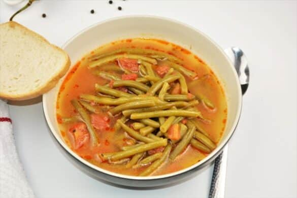 Hungarian Green Bean Soup Recipe-Served in Bowl