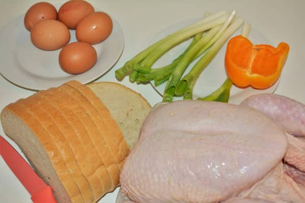 Baked Stuffed Whole Chicken Recipe-Ingredients
