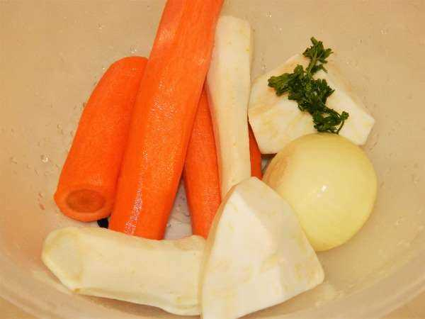Greek Lemon Chicken Soup Recipe-Carrots, Onion, Celery Root and Parsley Root