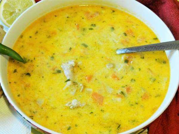 Greek Lemon Chicken Soup Recipe-Served With More Lemon Juice and Hot Pepper