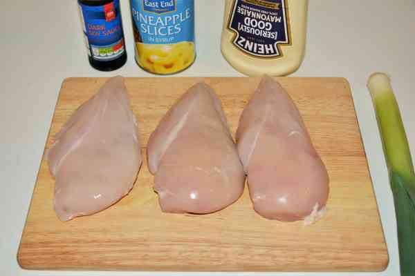 Chicken Breast With Pineapple-Ingredients