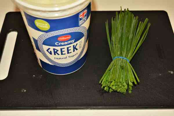 Homemade Hash Browns Recipe-Greek Yoghurt and Chives