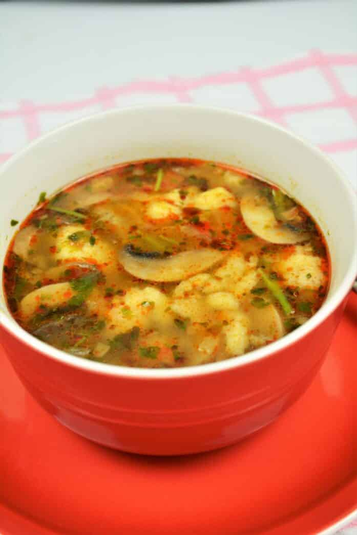 Best Mushroom Soup Recipe-Served in Bow