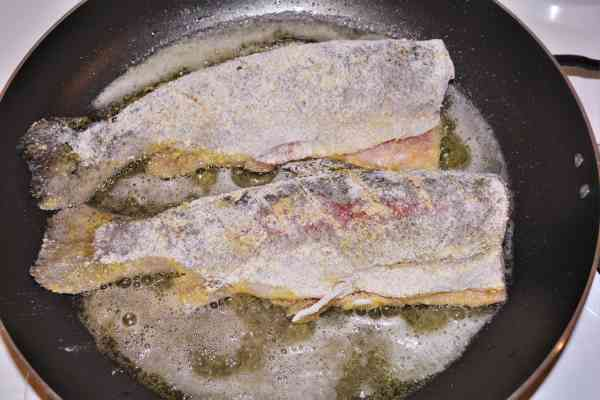 Pan-Fried Rainbow Trout Recipe-Two Trout Frying in the Pan